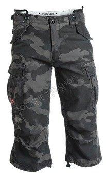 spodnie bojówki krótkie 3/4 ENGINEER VINTAGE - BLACK CAMO