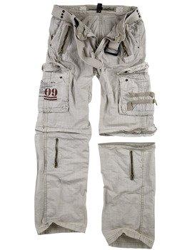 spodnie bojówki ROYAL OUTBACK TROUSER - ROYALWHITE, odpinane