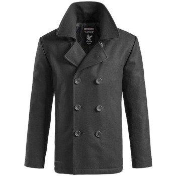 płaszcz marynarski PEA-COAT - BLACK,- SURPLUS