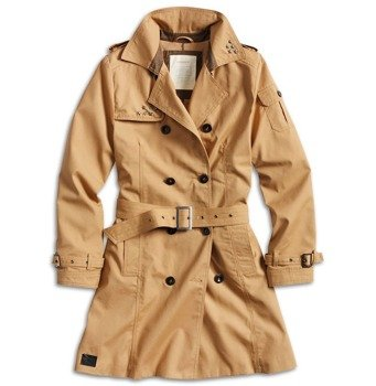 płaszcz damski TRENCHCOAT WOMEN BROWN