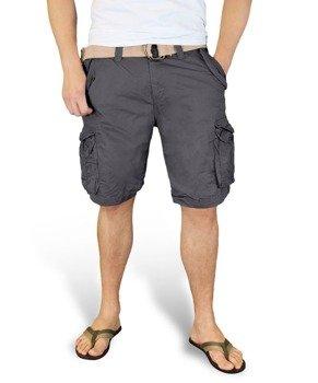 spodnie bojówki krótkie XYLONTUM VINTAGE SHORTS ANTHRACITE
