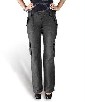 spodnie bojówki damskie LADIES TROUSER BLACK