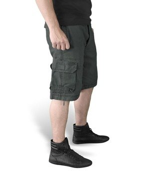 spodnie bojówki krótkie VINTAGE BLACK