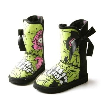 buty  IRON FIST - ZOMBIE STOMPER MEDIUM (BLACK/GREEN)