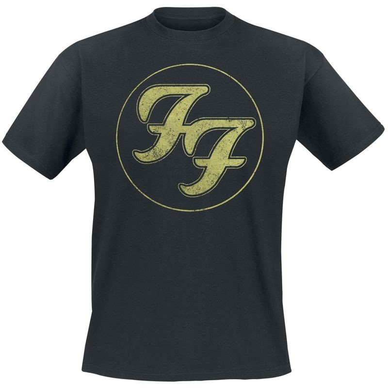 koszulka foo fighters logo in gold sklep rockmetalshoppl