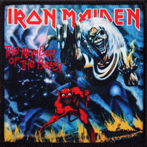 Iron Maiden Number Of The Beast Single naszywka IRON MAIDEN -...