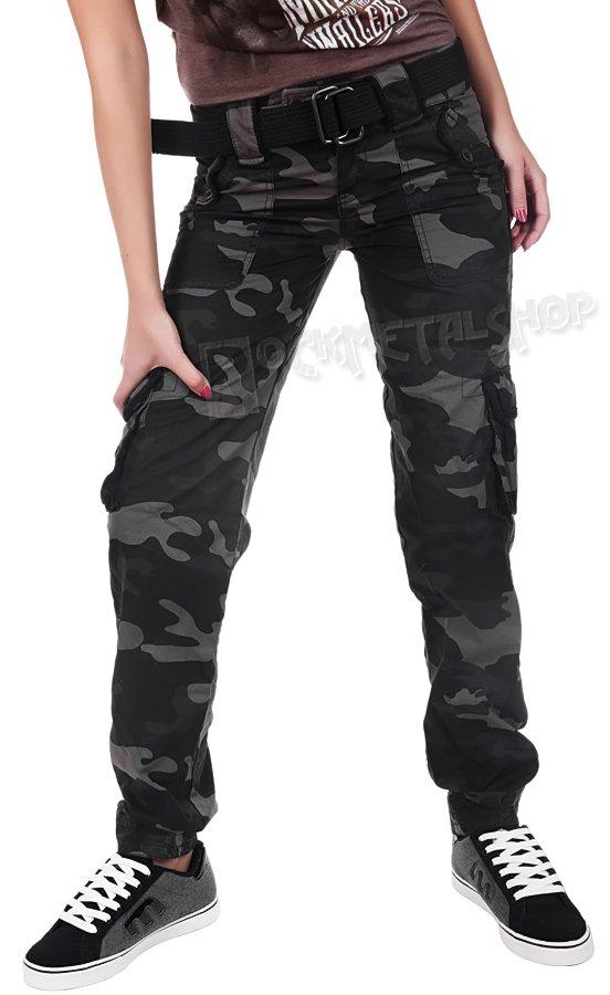 Spodnie Boj Wki Damskie Ladies Premium Trousers Slimmy Black Camo Sklep
