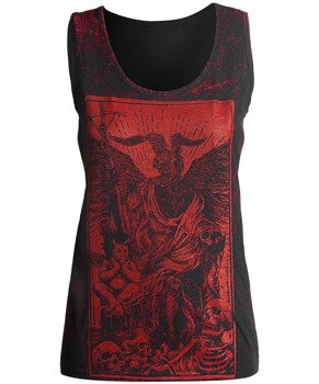 bluzka damska AMENOMEN - DEVIL na ramiączkach (OMEN094DAR ALLPRINT RED)