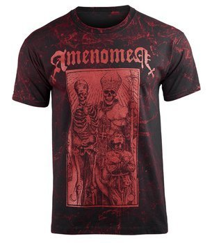 koszulka AMENOMEN - POPE AND DEATH (OMEN085KM ALLPRINT RED)