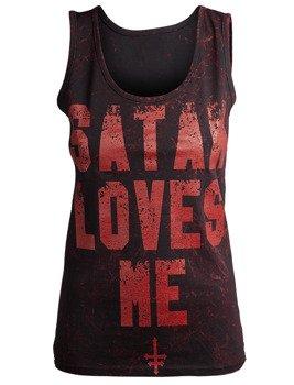 bluzka damska AMENOMEN - SATAN LOVES ME na ramiączkach (OMEN057DAR ALLPRINT RED)