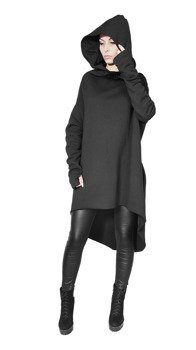 bluza unisex AMENOMEN MYSTICAL HOODIE BLACK, z kapturem