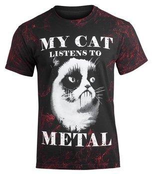 koszulka AMENOMEN - MY CAT LISTENS TO METAL (OMEN077KM ALLPRINT RED)