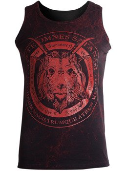koszulka na ramiączkach AMENOMEN - CHURCH OF SATAN (OMEN053KR ALLPRINT RED)