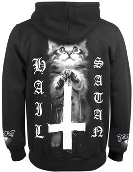 bluza AMENOMEN - HAIL SATAN (OMEN139CR) rozpinana, z kapturem