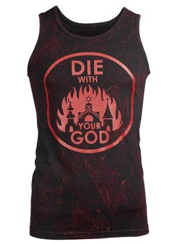 koszulka na ramiączkach AMENOMEN - DIE WITH YOUR GOD (OMEN071KR BLACK ALLPRINT RED)
