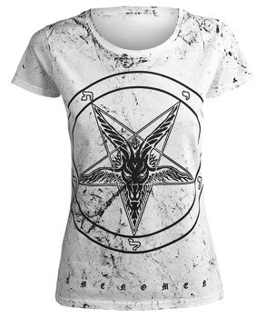 bluzka damska AMENOMEN - PENTAGRAM GOAT (OMEN001DA WHITE ALLPRINT BLACK)