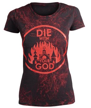 bluzka damska AMENOMEN - DIE WITH YOUR GOD (OMEN071DA BLACK ALLPRINT RED)