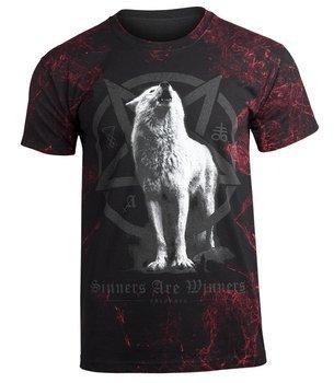 koszulka AMENOMEN - WHITE WOLF (OMEN048KM ALLPRINT RED)