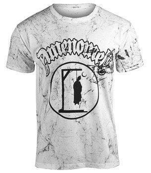 koszulka AMENOMEN - PRIEST DEAD (OMEN142KM WHITE ALLPRINT BLACK)