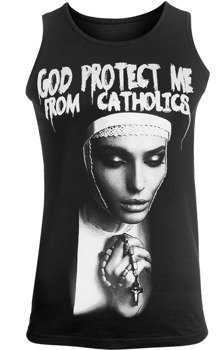 koszulka na ramiączkach AMENOMEN - GOD PROTECT ME FROM CATHOLICS (OMEN098KR)