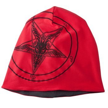 czapka zimowa AMENOMEN - PENTAGRAM GOAT (OMEN001CZAP) RED GRAY