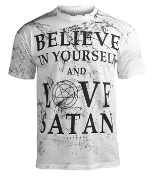 koszulka AMENOMEN - BELIEVE... (OMEN124KM WHITE ALLPRINT BLACK)
