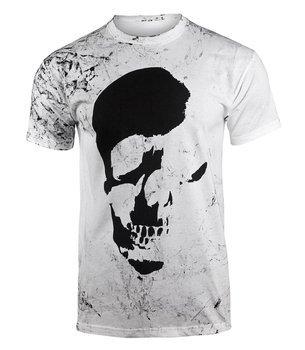 koszulka AMENOMEN - SKULL (OMEN035KM WHITE ALLPRINT BLACK)