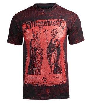 koszulka AMENOMEN - TWO POPES (OMEN017KM BLACK ALLPRINT RED)