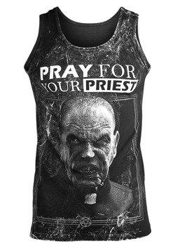 koszulka na ramiączkach AMENOMEN - PRAY FOR YOUR PRIEST (OMEN147KR ALLPRINT WHITE)