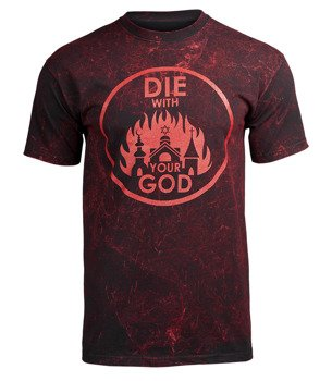 koszulka AMENOMEN - DIE WITH YOUR GOD (OMEN071KM BLACK ALLPRINT RED)