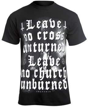 koszulka AMENOMEN - LEAVE NO CROSS UNTURNED, LEAVE NO CHURCH UNBURNED (OMEN119KM)