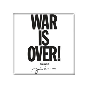 Magnes na lodówkę JOHN LENNON - WAR IS OVER !