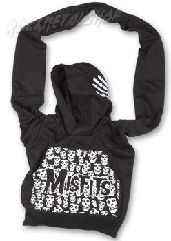 Torba MISFITS - COTTON BLK/WHITE HOODIE BAG