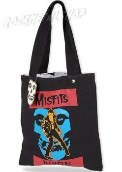 Torba MISFITS - REVERSIBLE TOTE BL/WHI & COLOR