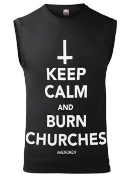 bezrękawnik AMENOMEN - KEEP CALM AND BURN CHURCHES (OMEN069BR)