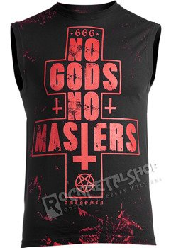 bezrękawnik AMENOMEN - NO GODS NO MASTERS (OMEN080BR ALLPRINT RED)