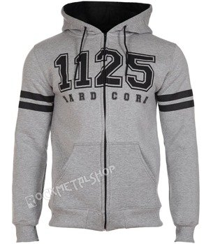 bluza 1125 - HARD CORE grey rozpinana, z kapturem