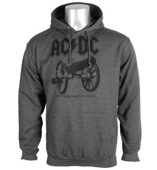 bluza AC/DC - FOR THOSE ABOUT TO ROCK, kangurka z kapturem