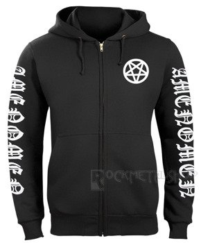 bluza AMENOMEN - PENTAGRAM BURN rozpinana, z kapturem (OMEN067CR)