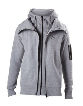 bluza ASSASSINS CREED - DOUBLE LAYERED HOODIE WITH CREST LOGO, rozpinana z kapturem