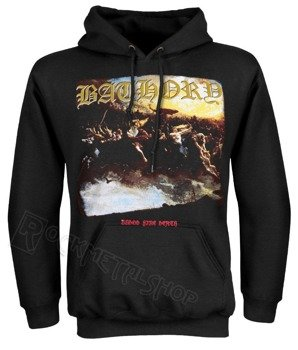 bluza BATHORY - BLOOD FIRE DEATH,  kangurka z kapturem