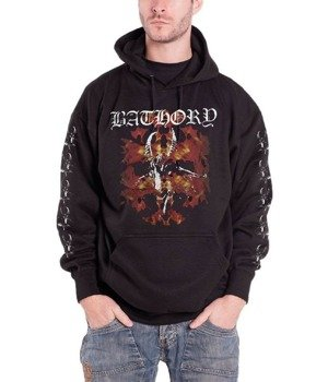 bluza BATHORY - FIRE GOAT, kangurka z kapturem