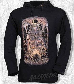 bluza BLACK ICON - BAPHOMET czarna z kapturem (BICON004)