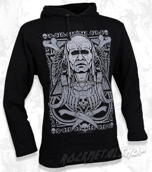bluza BLACK ICON - TRIBAL WARRIOR czarna z kapturem
