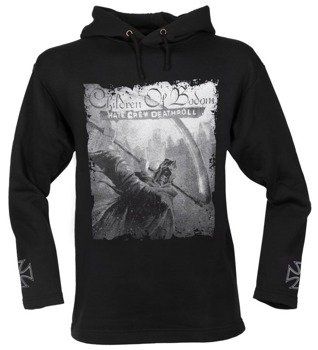 bluza CHILDREN OF BODOM - HATE CREW DEATHROLL czarna, z kapturem