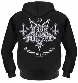 bluza DARK FUNERAL - 20 YEARS OF SATANIC SYMPHONIES, rozpinana z kapturem