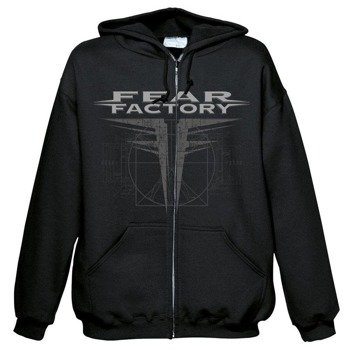 bluza FEAR FACTORY - GNXS, rozpinana z kapturem