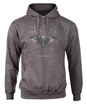 bluza GAME OF THRONES - ALL MEN MUST DIE, kangurka z kapturem