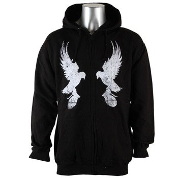 bluza HOLLYWOOD UNDEAD - MIRROR DOVE, rozpinana z kapturem