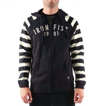 bluza IRON FIST - CHAIN GANG RAGLAN, z kapturem
